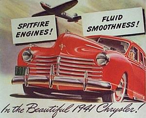 Chrysler reklame - hvor motoren er en Spitfire