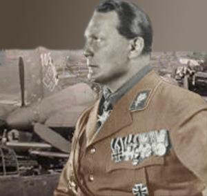 Göring foran nogle ødelagte tyske fly
