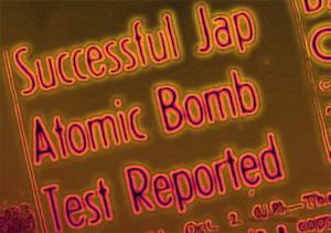 Artikel overskrift om japans atombombe