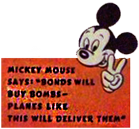 Mickey Mouse reklamere for warbonds
