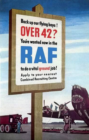 Hverveplakat for RAF