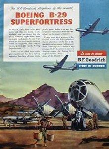 B-29 på en reklame