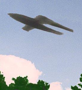 Foto af en V1 i luften