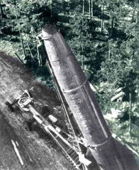 V2 raket klargøres
