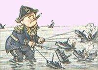 Tysk satirisk tegning af Churchill