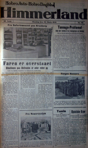 Forsiden af hobro avis