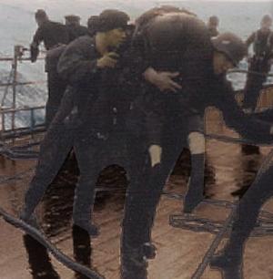 skibbruden sømand reddes