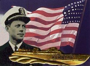 Kennedy og hans broche fra valgkampen 1960