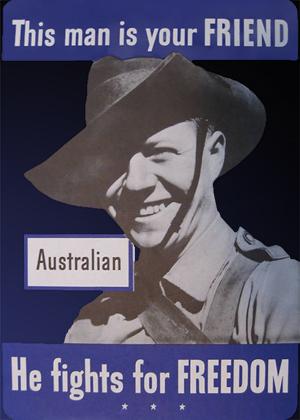 Australsk plakat med australsk soldat fra 1942