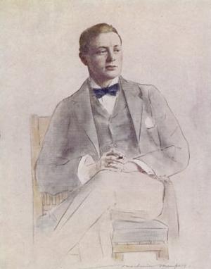 En ung Churchill afbildet