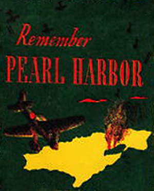 et uddrag fra et patriotisk brev fra 1943 med teksten - husk Pearl Harbor
