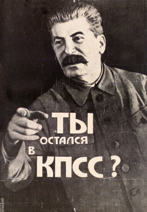 Propaganda plakat af Stalin