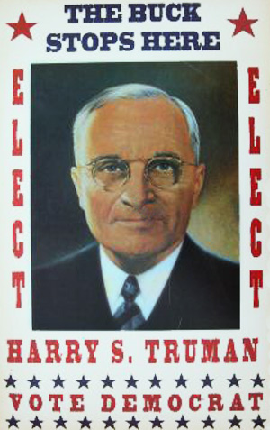 amerikansk valgplakat for Harry Truman