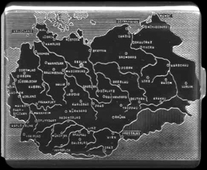 Cigaret etui med Tyskland indgraveret