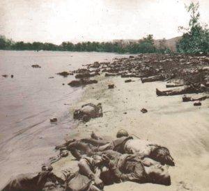 lig i vandkanten ved Guadalcanal