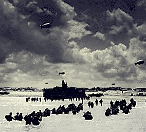 Tropper går i land på D-day
