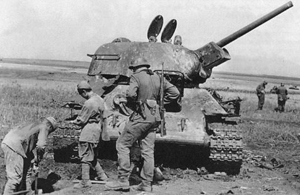 Tysk erobret ødelagt russisk tank ved Kursk