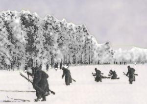 Sovjetiske soldater på ski