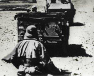 Tyske kolonne med kurs mod Tobruk
