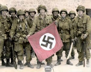 Amerikankse 1st airborne deltog i Market Garden - billedet er handtinted