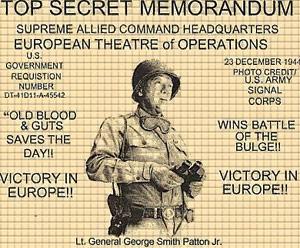 udsnit af en berømt plakat med George Patton