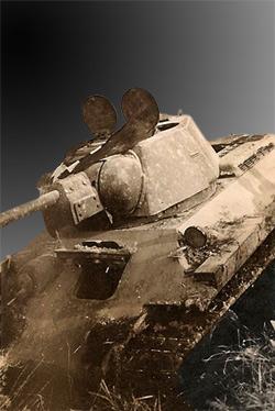 foto af erobret og ukampdygtig T-34