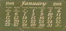 Kalender januar 1908