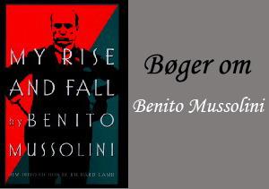 Engelske bøger om Benito Mussolini