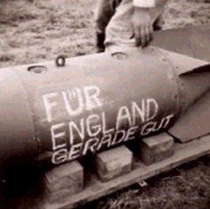 En tysk bombe tiltænkt England