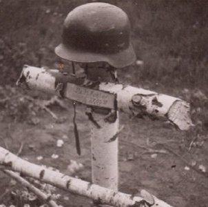 En tysk soldats soldatergrav