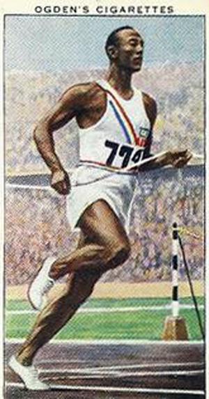 Jesse Owens - Cigaret kort