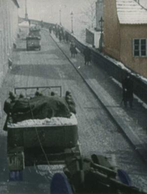 tyske tropper på vej ind i Sudetenland