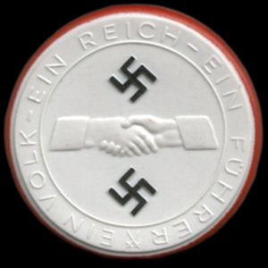 En mønt lavet i porcelæn for at fejre Anschluss