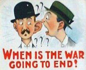 Humoristisk tegning af to engelske gentlemen