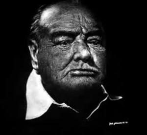 Et foto af Winston Churchill