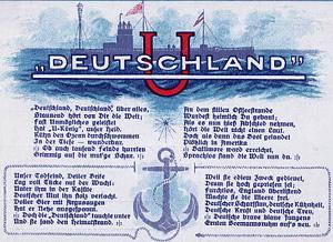 En hyldest version af sangen til Ubåden Deutschland