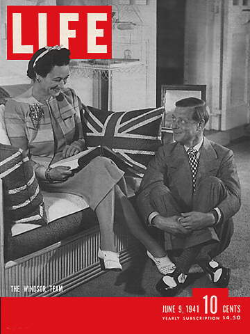 forside fra Life i 1941 med Edward VIII