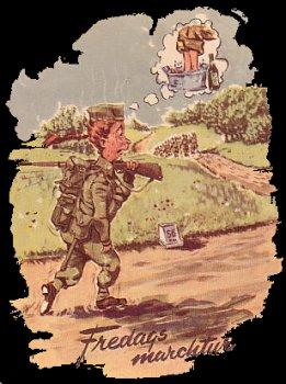 Dansk soldater humor - fredags marchtur