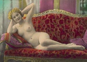 Et tinted nøgenfoto af kvinde fra 20'erne