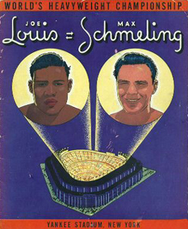Programmet fra 1938 med de to boksere