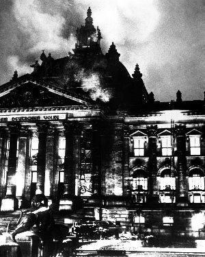 Den tyske Reichstag i brand