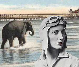 Beryal Markham foran en elefant