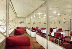 Billede fra det indre af Zeppelineren Hindenburg