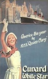 Queen Mary og Cunard reklame