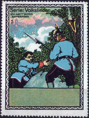et frimærke fra første verdenskrig med teksten